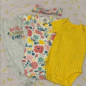 Matching Onsie and Headband Set